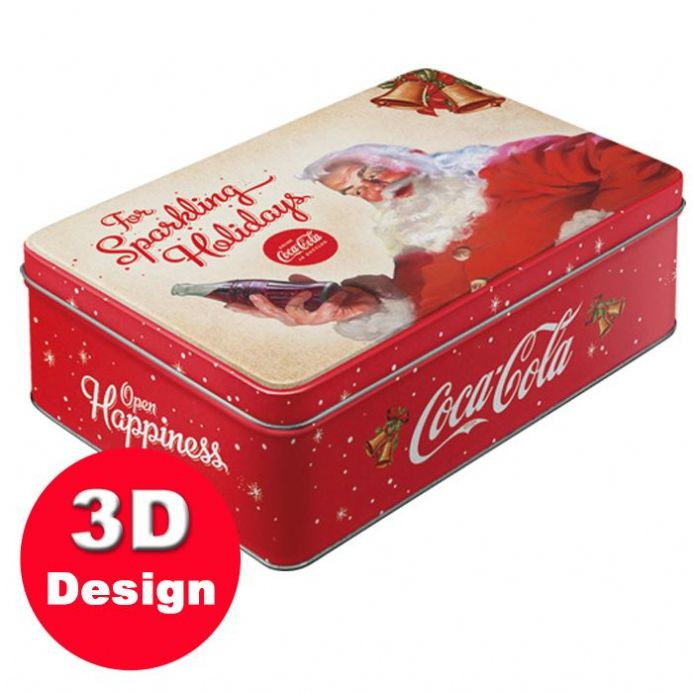 Coca Cola Christmas Santa - Embossed Storage Tin